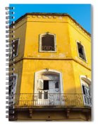 Damaged Colonial Building Spiral Notebook