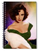 Dame Elizabeth Rosemond 'liz' Taylor - Featured In 'comfortable Art' Group Spiral Notebook