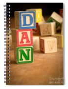 Dan - Alphabet Blocks Spiral Notebook