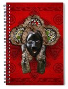 Dan Dean-gle Mask Of The Ivory Coast And Liberia On Red Leather Spiral Notebook