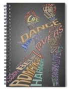 Dance Lovers Silhouettes Typography Spiral Notebook