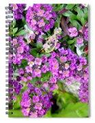 Dance Of Flowers Spiral Notebook