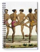 Dance Of The Caroline Islanders, Plate Spiral Notebook