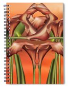 Dance Of The Orange Calla Lilies II Spiral Notebook