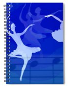 Dance The Blues Away Spiral Notebook
