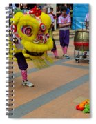 Dance Troupe Performs Chinese Lion Dance Singapore Spiral Notebook