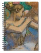 Dancer Adjusting Her Shoulder Spiral Notebook