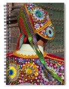 Dancer In Native Costume Peru Spiral Notebook