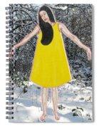 Dancer In The Snow Spiral Notebook