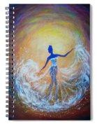 Dancer In White Dress Spiral Notebook