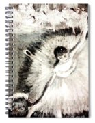 Dancer With A Bouquest Of Flowers By Edgard Degas Spiral Notebook