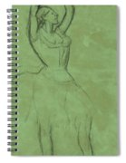 Dancer With Raised Arms Spiral Notebook
