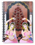 Dancers In Mughal Court Spiral Notebook