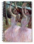 Dancers In Violet Dresses Spiral Notebook