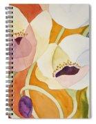 Dancing Anemones Spiral Notebook