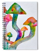 Dancing Cubensis Spiral Notebook