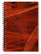 Dancing Flames 1 H - Panorama - Abstract - Fractal Art Spiral Notebook