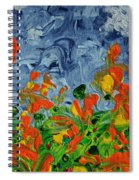 Dancing Flowers Spiral Notebook