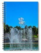 Dancing Fountain Spiral Notebook