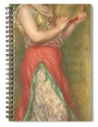Dancing Girl With Tambourine Spiral Notebook