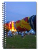 Dancing In The Moonlight Hot Air Balloons Spiral Notebook