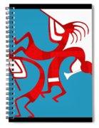 Dancing Kokopellis Spiral Notebook