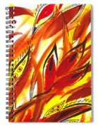 Dancing Lines Hot Abstract Spiral Notebook