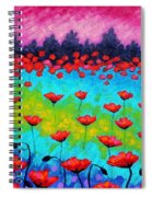 Dancing Poppies Spiral Notebook