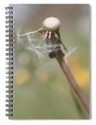 Dandelion Last To Fly Away Spiral Notebook