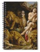 Daniel And The Lions Den Spiral Notebook