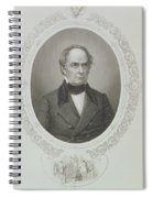 Daniel Webster, From The History Of The United States, Vol. II, By Charles Mackay, Engraved By T Spiral Notebook