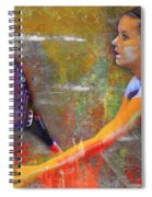 Danielle H Painted Spiral Notebook