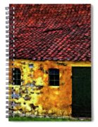 Danish Barn Impasto Version Spiral Notebook