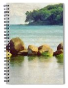 Danish Coast On The Rocks Spiral Notebook