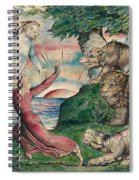 Dante Running From The Three Beasts Spiral Notebook