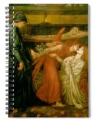 Dantes Dream At The Time Of The Death Of Beatrice 1856 Spiral Notebook