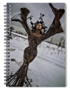 Daphene Sculpture On A Winter Day Spiral Notebook