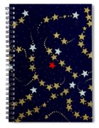 Dare To Be Different - Stars - Blazing Trails Spiral Notebook