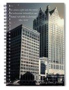 Dark And Light Spiral Notebook