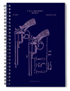 Dark Beaumont Revolver Patent Spiral Notebook
