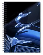 Dark Blue Classic Buick Flying Lady Hood Ornament Spiral Notebook