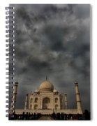 Dark Clouds Over Taj Mahal Spiral Notebook