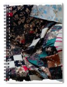 Dark Colored Blocks Patchwork Quilt  Spiral Notebook