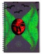 Dark Fallen Angel Spiral Notebook