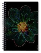 Dark Flower 2 Spiral Notebook