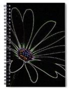Dark Flower Spiral Notebook