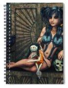 Dark Girl Spiral Notebook