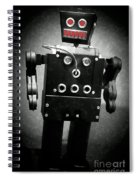 Dark Metal Robot Oil Spiral Notebook