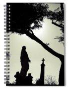 Dark Mysterious Light Spiral Notebook