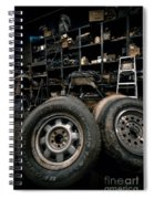 Dark Old Garage Spiral Notebook